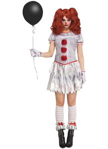 Women Sexy Evil Circus Clown Costume
