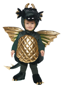 Green Dragon Toddlers Costume
