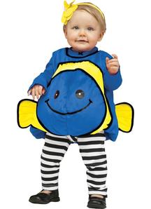 Blue Fish Toddler Costume