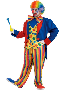 Bright Clown Adult Plus Size Costume