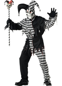 Creepy Jester Adult Costume