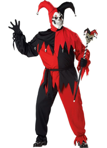 Evil Jester Adult Plus Costume