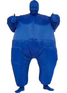 Inflatable Skin Suit Blue Adult