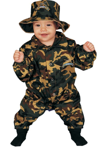 Little Military Officer Infant Costume