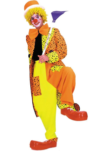 Orange Clown Adult Costume
