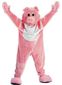 Pink Pig Men Costume