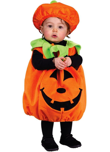 Plush Pumplkin Infant Costume