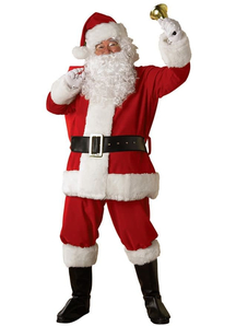 Plush Santa Adult Costume