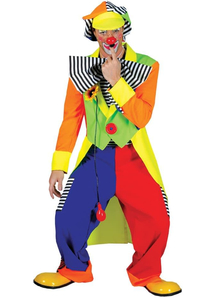 Striped Clown Adult Costume