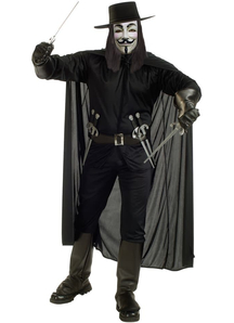V For Vendetta Adult Costume