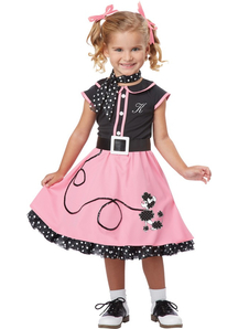 50'S Girl Child Costume