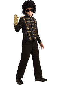 Black Military Michael Jackson Child Costume