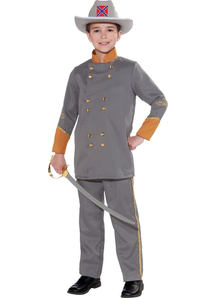 Confederate Officer Child Costume