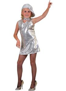 Disco Dress Child Silver
