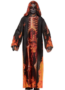 Fire Skeleton Child Robe