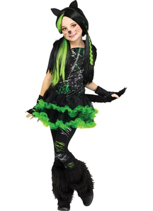 Green Cat Child Costume