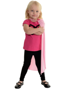 Pink Superhero Cape Child