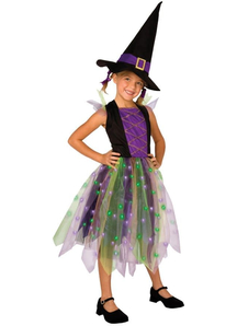 Rainbow Witch Child Costume