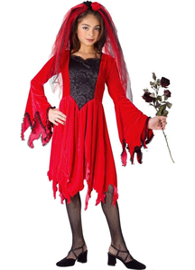 Red Bride Child Costume
