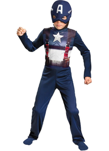 Retro Captain America Child Costume