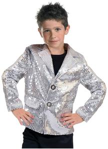 Silver Disco Jacket Child