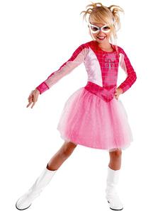 Spidergirl Pink Child Costume