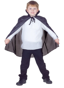 Taffeta Cape Black Child