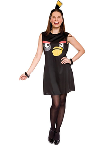 Black Angry Bird Adult Costume