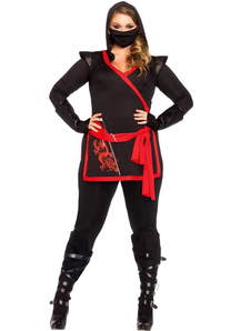 Black Ninja Assasin Costume Adult