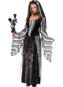 Black Rose Ghost Adult Costume