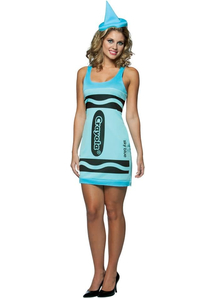 Blue Pencil Crayola Costume For Adults