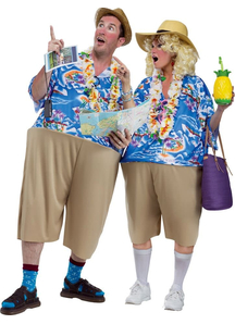 Couple Costume Tourists
