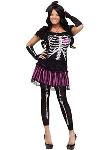 Cute Skeleton Adult Costume
