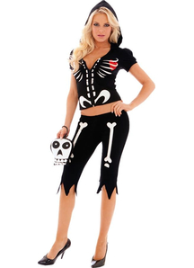 Cute Skeleton Women Costume
