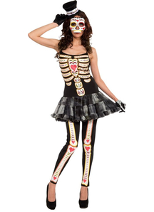 Day Of The Dead Lady Adult Costume