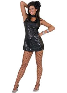 Disco Dress Black Adult