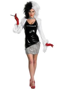 Dlx Cruelle De Vil Adult Costume
