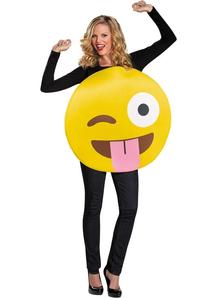 Emoji Tongue Adult Costume