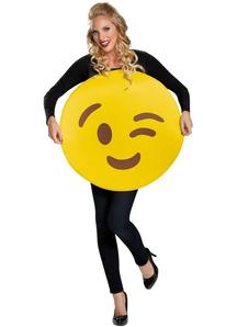 Emoji Wink Adult Costume