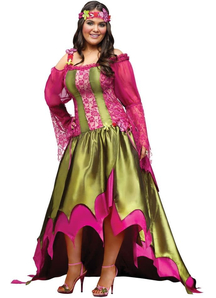 Flower Fairy Adult Plus Size Costume