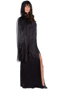 Ghost Cape Black Adult