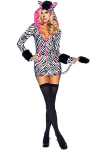 Glam Zebra Adult Costume