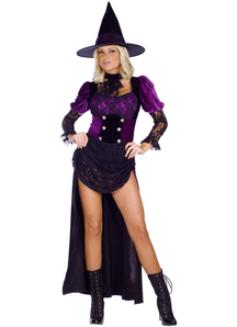 Gothic Purple Witch Adult Costume