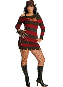 Miss Freddy Kruger Adult Plus Costume
