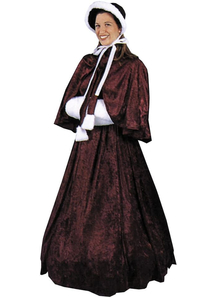 Mrs Dickens Adult Costume