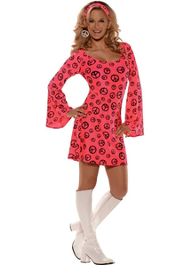 Pink Hippie Adult Costume