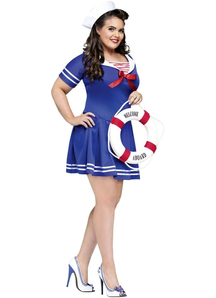 Sexy Sailor Plus Size Adult Costume