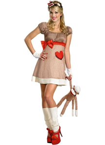 Sock Monkey Women Costume
