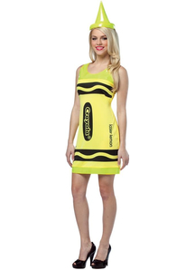 Yellow Pencil Crayola Adult Costume