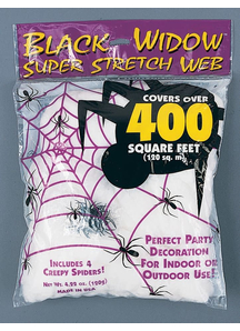 Black Widow Web 120 Gr. Webs And Cloth.